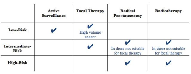 Prostate cancer treatment grid